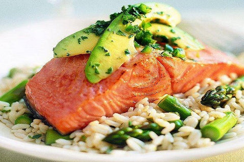 Fresh King Salmon, farm raised, Portions: 26 x 6 oz servings for 32.99 per pound*