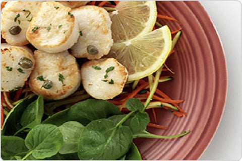 Scallops: Frozen Large Scallops 5 pounds for $29.99 per pound*