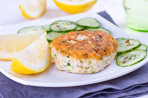 Halibut Burger, Spinach/Feta, 24 x 4 ounce burgers, $12.99 per pound*