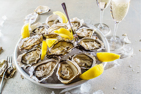 "Oysters: Kumiai Bay 2-4"" In Shell Fresh Oysters $35.00/Two Dozen*"