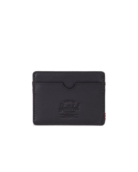 Charlie Wallet - Black Pebbled Leather