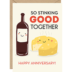 """Stinking good together"" - Anniversary Card"