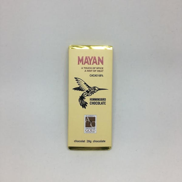 Hummingbird Chocolate Mayan 68% 28g BAR - Spice is Nice