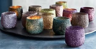 Sparkle Tealight Holder Warm Tone