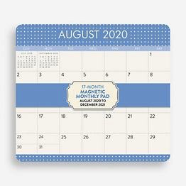 "2020-2021 Magnetic Monthly Calendar 8.5""x9.5"