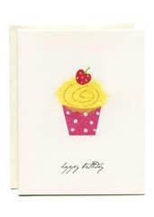 Yellow Cupcake - Happy Birthday