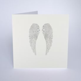 ICED SILVER - Angel Wings - Boxed Cards