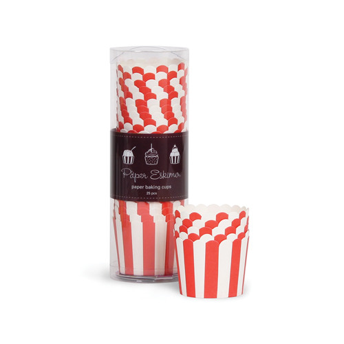 Baking Cups - Red Stripes