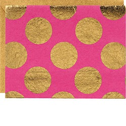 GOLD DOTS FUCHSIA NOTE