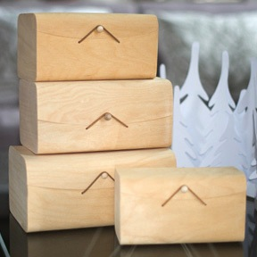 Birch Nested Gift Boxes - Square