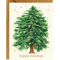 Starry Tree Happy Holidays Foil