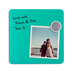 Magnetic dry-erase tiles - Turquoise