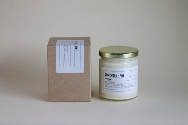 Cedarwood + Pine Soy Wax Candle