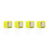 Color Cube Plastic coated Magnets GREEN -  set of 4