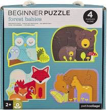 Petit Collage Baby Forest Animals Beginner Puzzle