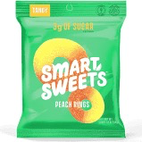Smart Sweets - Peach Rings Low Sugar Gummies