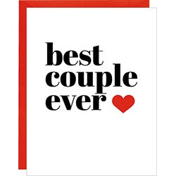 """Best Couple Ever"" - Card"