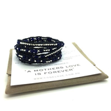 'A MOTHER'S LOVE IS FOREVER' 5 Wrap Bracelet