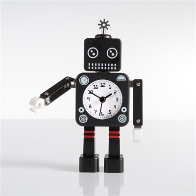 Robot Alarm Clock - black