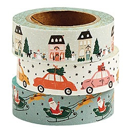 Holiday Village Washi Set of 3