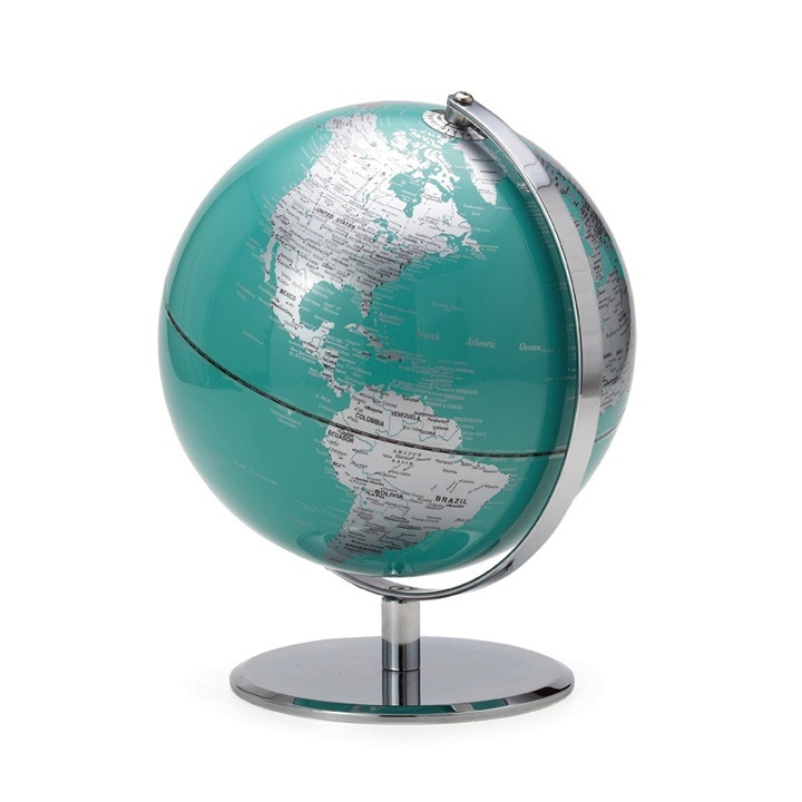Latitude World Globe - turquoise