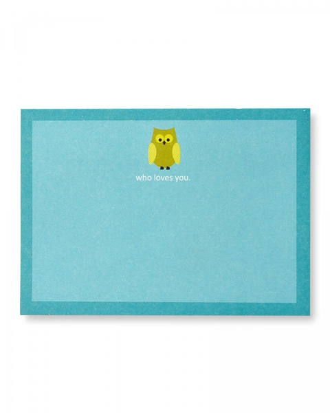 'Who Loves You' Owl Sticky Notes