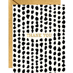 Black Spots Foil Thank You