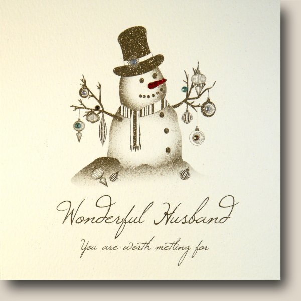 Wonderful Husband Christmas Card