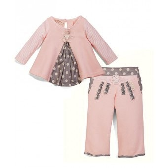 Sweet Pleat Top & Pants - size 6-9 mo