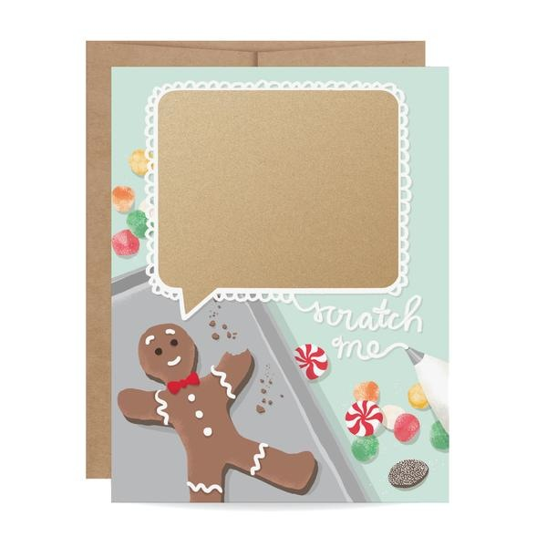 Gingerbread Scratch-off Card