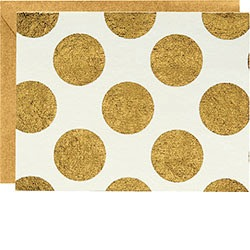 GOLD DOTS IVORY NOTE