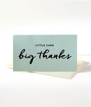 Little card big thanks