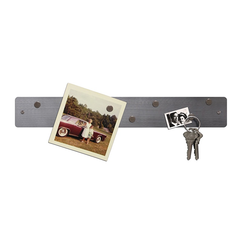 Mini Magnetic Strip Bulletin Board - Stainless