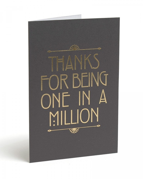 GOLD FOIL ONE IN A MILLION THANK YOU CARDS
