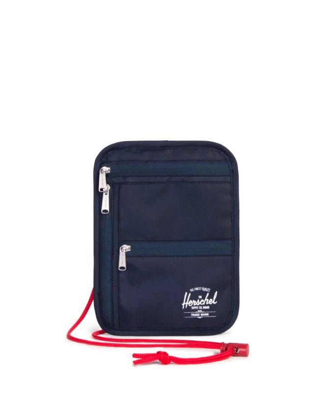 Money Pouch - POLY NAVY/RED