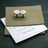 'MY ROCK' Cuff Links