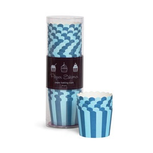 Baking Cups - Blue Navy Stripes