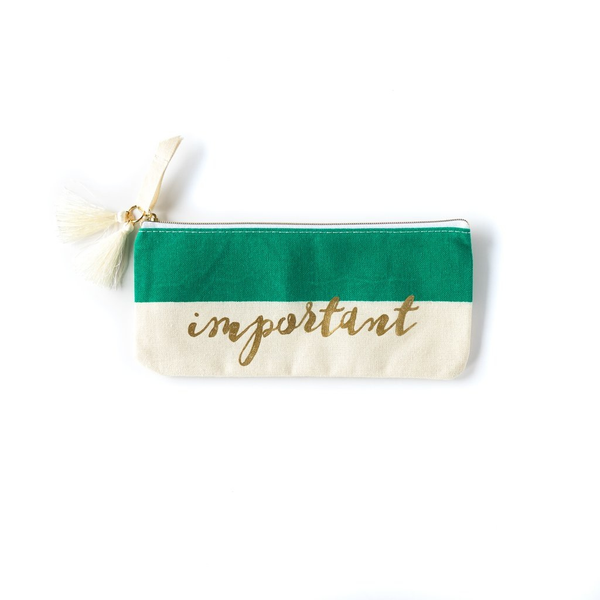 Paper Love Geometric Pouch - Green Important