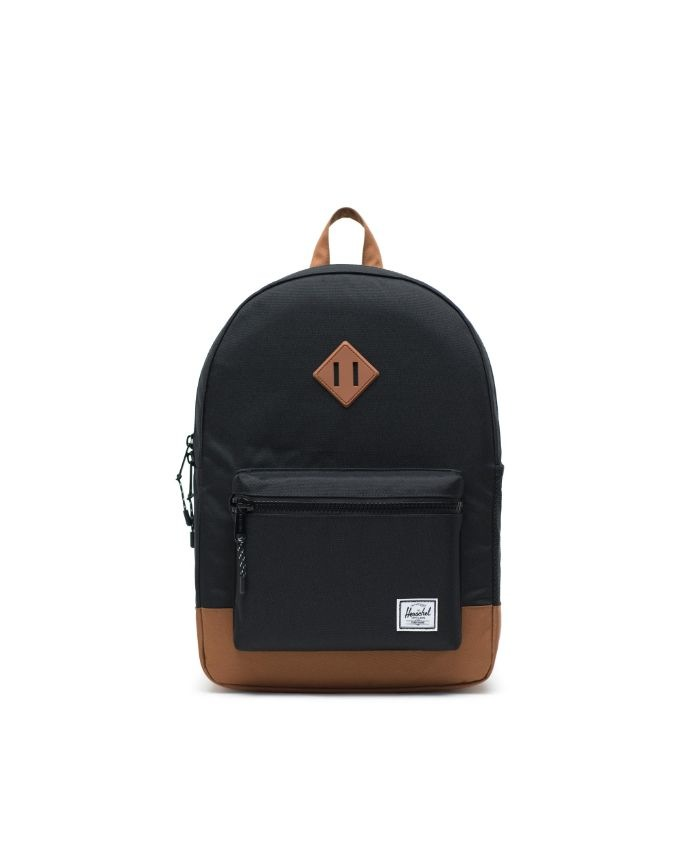 Heritage Backpack | XL Youth - Black/Saddle Brown