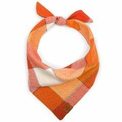 Pumpkin Spice Flannel Dog Bandana - Medium