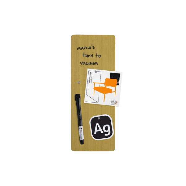 4'' x 11'' Dry Erase Board - Golden