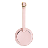 LEATHER LUGGAGE TAG: PINK