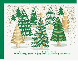 Joyful Trees Letterpress + FOIL