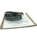 'TRUE FRIENDS ARE A GIFT' 5 Wrap Bracelet