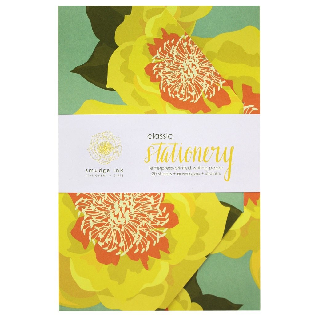 Sunny Blossoms Stationery Set