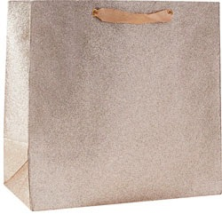 Champagne Glitter Large Bag