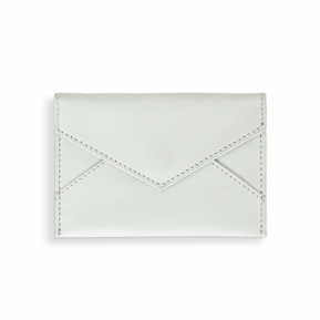 Leather Card Holder - White
