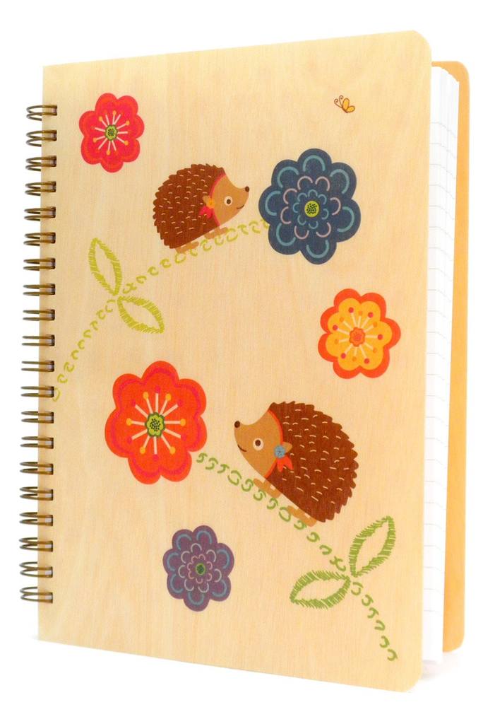 Wooden Journal - Hazel Hedgehog