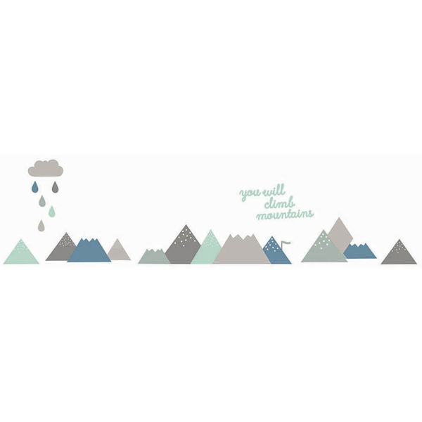Fabric Decals - Climb Mountains (Blues)