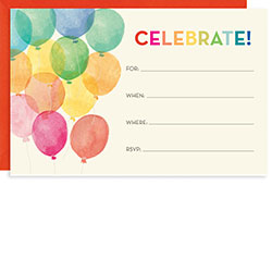 Balloons Invitations